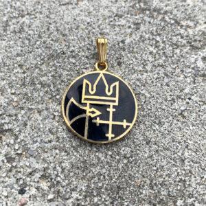 Anheng/medaljong emalje